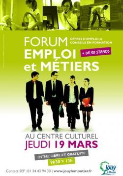 Affiche forum emploi web