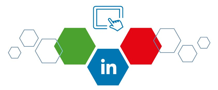 Logo Linkedin avec clic