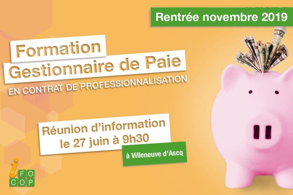 Formation Gestionnaire de Paie en contrat de professionnalisation - Réunion d'information le 27 juin à Villeneuve d'Ascq